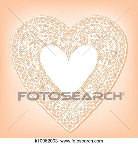 Klipart Bağcık Bardak Altliği Peçete Kalp üstünde Pastel Boya
