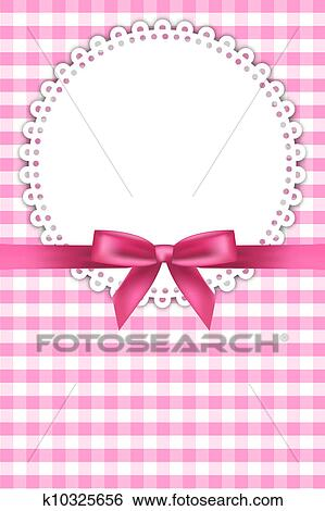 Clip Art - baby pink background with napkin . Fotosearch - Search Clipart, Illustration Posters