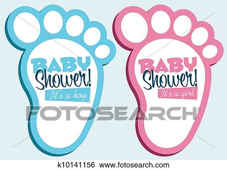 Clip Art Of Baby Shower Invitations K10141156 Search Clipart