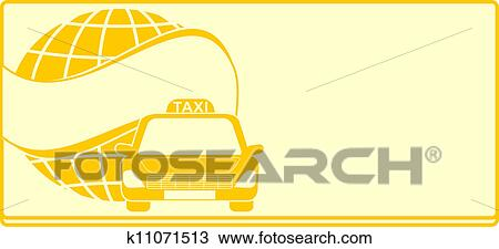 Cab Yellow Background For Visiting Card Taxi