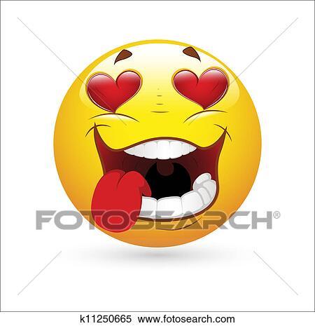 Clipart baisser dans amour smiley ic ne k11250665 - Clipart amour ...
