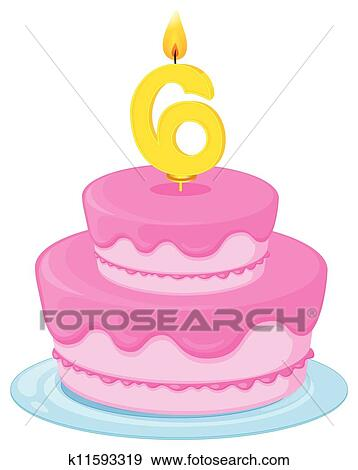 Astounding Birthday Cake Clip Art K11593319 Fotosearch Personalised Birthday Cards Veneteletsinfo