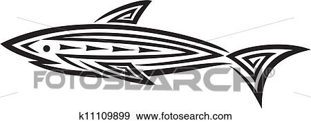 Black Shark Tattoo For Design Clip Art K11109899 Fotosearch