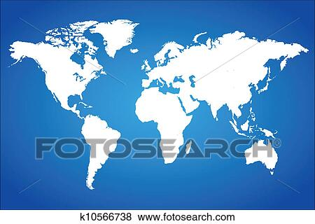 Clip art of blue world map vector illustration k10566738 search blue world map vector illustration gumiabroncs Image collections