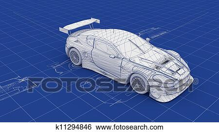 Stock images of blueprint race car k11294846 search stock blueprint race car part of a series malvernweather Choice Image