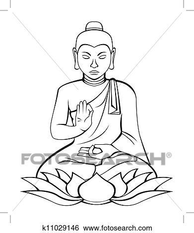 boeddha clipart   k11029146   fotosearch