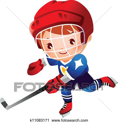 clipart of boy ice hockey player k11083171 search clip art rh fotosearch com hockey player clipart flyer hockey player clipart no background