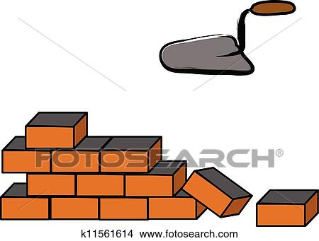 clipart of building a brick wall k11561614 search clip art rh fotosearch com brick wall clip art free brick wall clipart free
