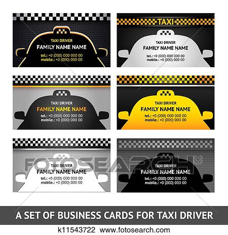 Clipart Of Business Card Taxi