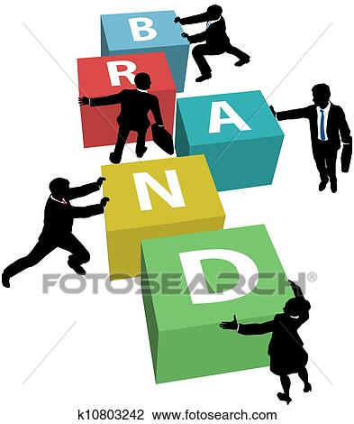 clip art of business people build company brand k10803242 search rh fotosearch com business card clipart images business clip art images free