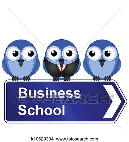 clipart of business school sign k10628394 search clip art rh fotosearch com No School Clip Art Schoolhouse Clip Art