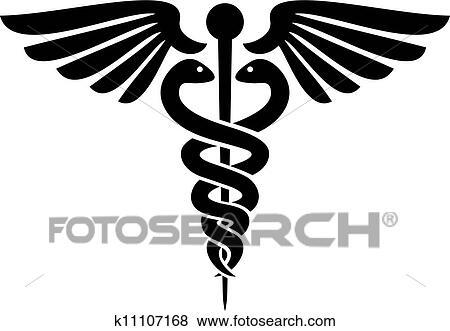 clip art of caduceus medical symbol k11107168 search clipart rh fotosearch com Medical Logo free clipart medical symbol