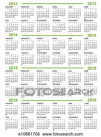 Calendario Anno 2014.Calendario Clipart