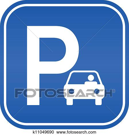 clipart of car parking sign k11049690 search clip art rh fotosearch com parking space clipart parking clip art free