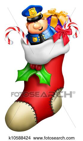 Christmas Stockings Cartoon.Cartoon Christmas Stocking For Boy Stock Illustration