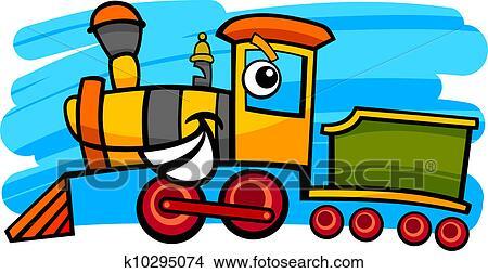 clipart of cartoon locomotive or train character k10295074 search rh fotosearch com locomotive clip art b&w locomotive clip art b&w