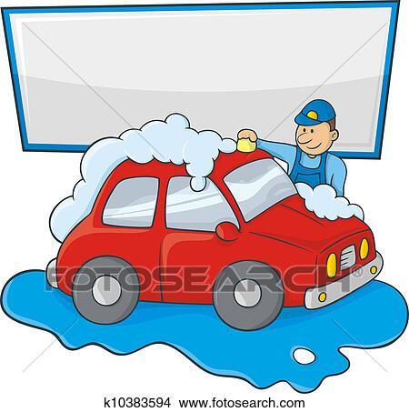 clipart of carwash man k10383594 search clip art illustration rh fotosearch com car wash clipart free car wash clip art free