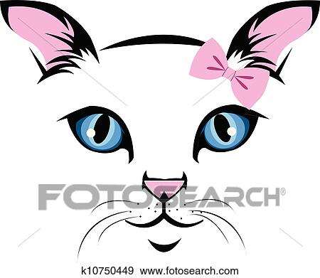clip art of cat face k10750449 search clipart illustration rh fotosearch com cat face clipart black and white free cat face clipart svg