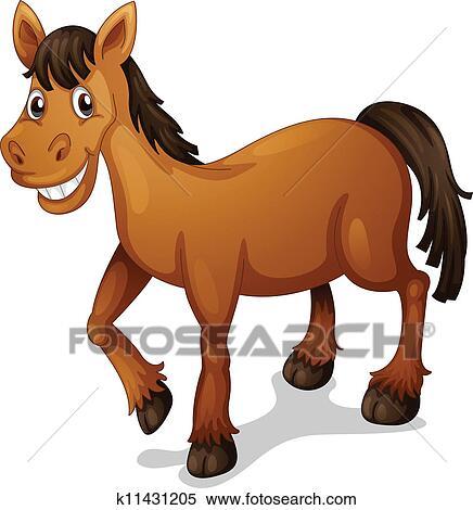 Cavallo cartone animato clipart k11431205 fotosearch
