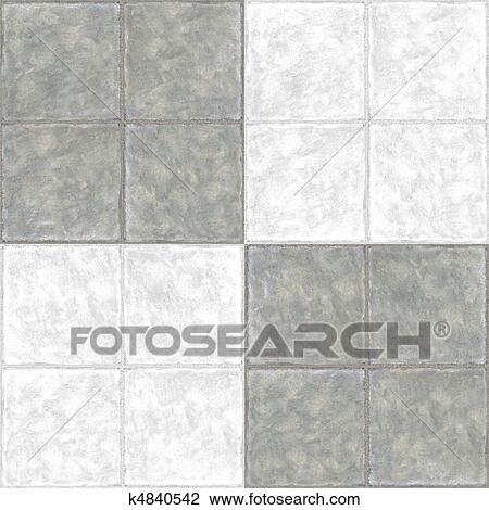 Clip Art of Ceramic Flooring Tiles as Seamless k4840542 - Search ...
