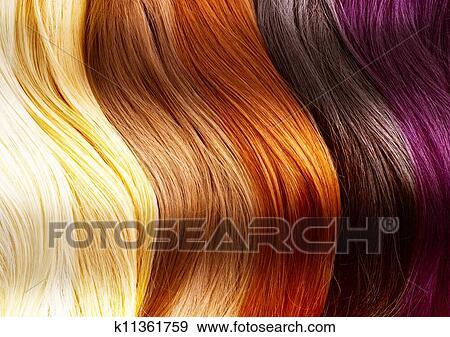 Cheveux Couleurs Palette Banque De Photo K11361759 Fotosearch