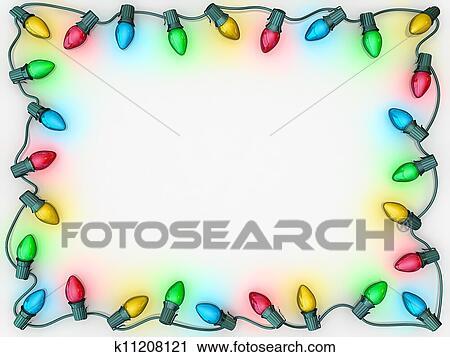 Christmas Light Border.Christmas Lights Border Stock Image