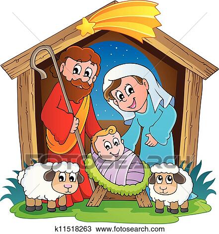 Christmas Nativity scene 2 Clipart | k11518263 | Fotosearch
