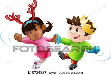 Christmas Dancing Cartoon.Christmas Party Dancing Clip Art