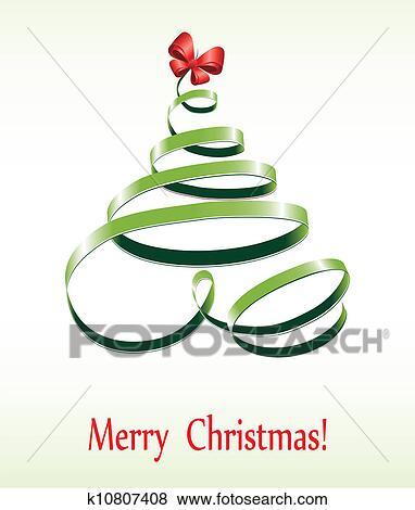 Merry Christmas Ribbon Clipart.Christmas Ribbon Tree Clip Art