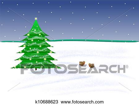 drawing christmas scene fotosearch search clipart illustration fine art prints