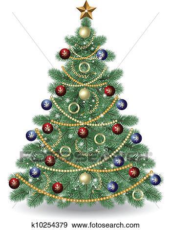 Clip Art Christmas Tree.Christmas Tree Clip Art K10254379 Fotosearch