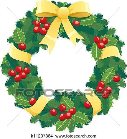 Christmas Wreath Clipart.Christmas Wreath Clipart