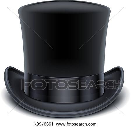 eba51eaf5 Cierny top, klobúk Klipart | k9976361 | Fotosearch