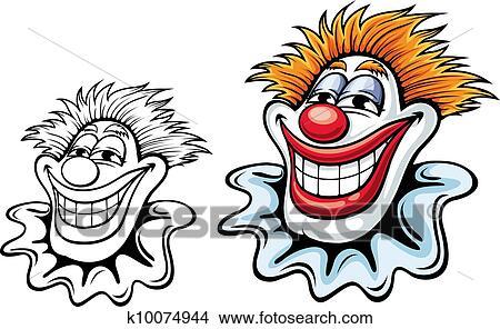 Clipart Circus Clown K10074944 Zoek Clipart Illustratie