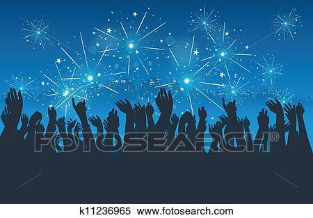 clipart city new year party fotosearch search clip art illustration murals