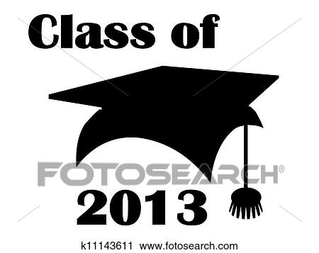 clipart of class of 2013 mortarboard k11143611 search clip art rh fotosearch com Graduation Class of 2008 Graduation Class of 2009