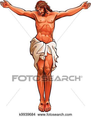 Close Up De Jesus Cristo Clipart K9939684 Fotosearch