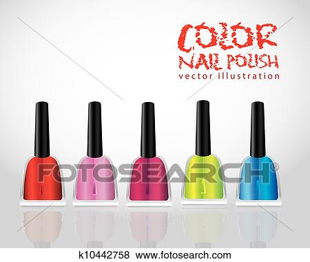 Clip Art Of Colored Nail Polish K10442758 Search Clipart
