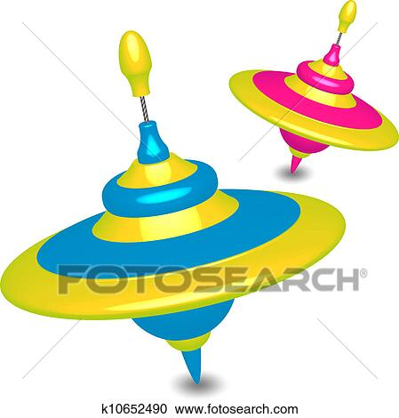 clipart of colorful humming tops k10652490 search clip art rh fotosearch com top clipart clothes top clipart sites
