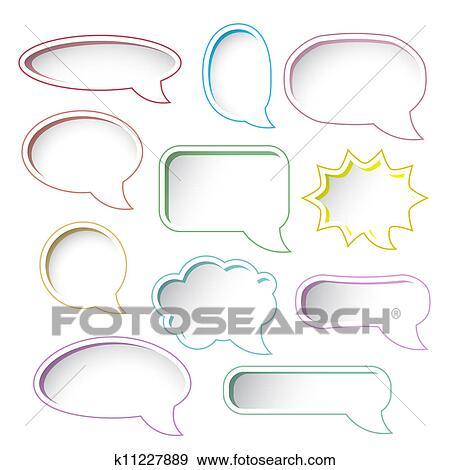 clip art of colorful speech bubble frames k11227889 search