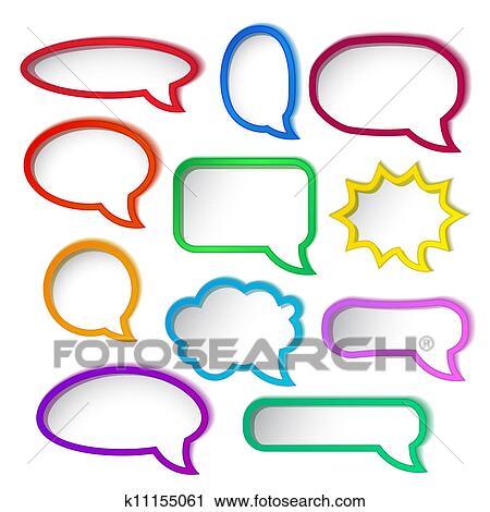 clipart of colorful speech bubble frames k11155061 search clip