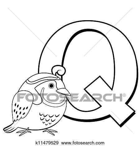Clip Art Of Coloring Alphabet For Kids Q K11479529