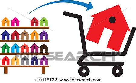 clipart of concept of buying a house or property on sale the rh fotosearch com purchase clipart and fonts purchase clip art images