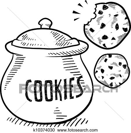 Clipart Of Cookie Jar Sketch K10374030