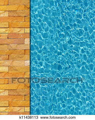 Cool Water In Swimming Pool Background Drawing K11438113