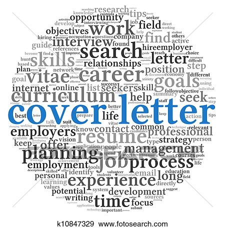 Stock Illustration of Cover letter concept k10847329 ...