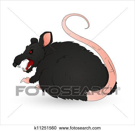 creepy rat vector clipart k11251560 fotosearch fotosearch