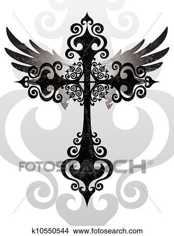 Cross Wings Stock Illustrations – 2,780 Cross Wings Stock Illustrations,  Vectors & Clipart - Dreamstime
