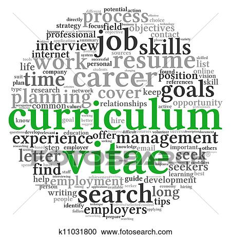 Stock Illustrations Of Curriculum Vitae Concept In Word Tag Cloud