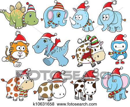 Cute Christmas Pictures.Cute Christmas Holiday Winter Set Clip Art